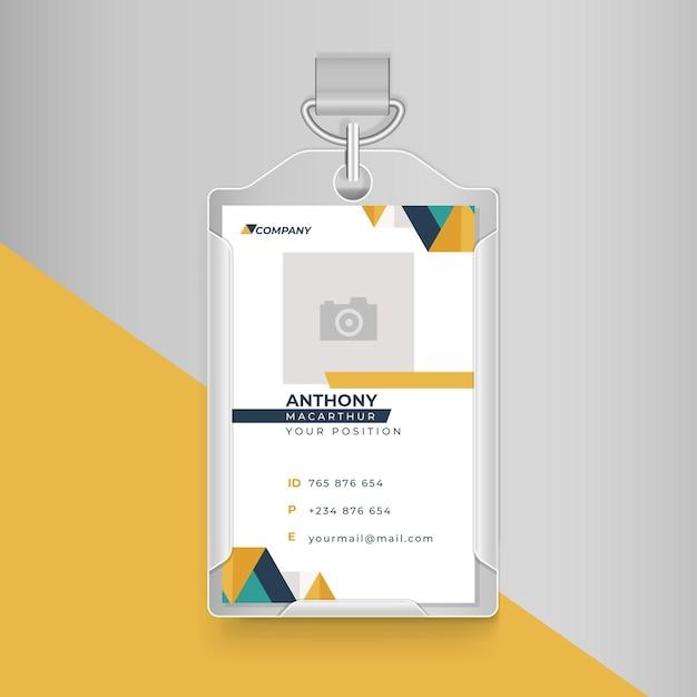 Cartão de identidade comercial Vetor grátis