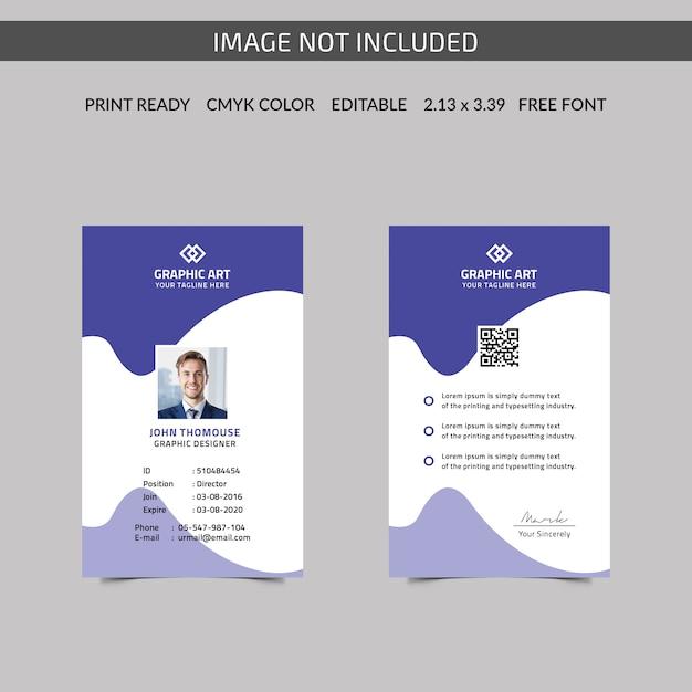 Cartão de identificação corporativa Vetor Premium