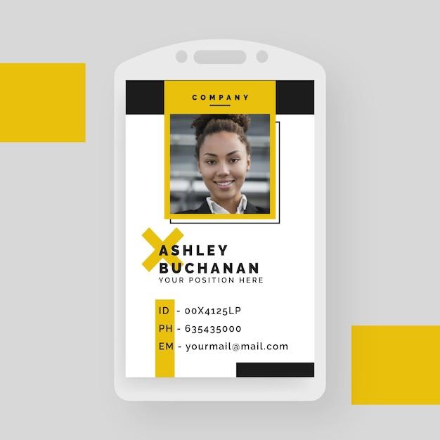 Cartão de identificação empresarial criativo com formas minimalistas Vetor grátis