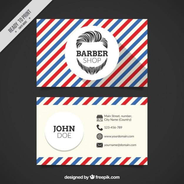 Cartão de loja retro barbeiro Vetor grátis