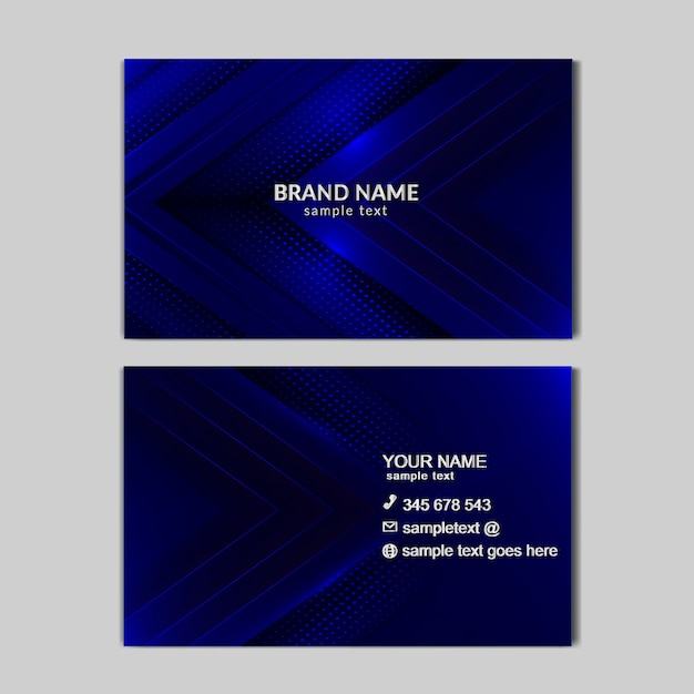 Cartão de luxo abstrato azul claro Vetor grátis