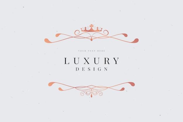 Cartão de luxo ornamentais Vetor grátis