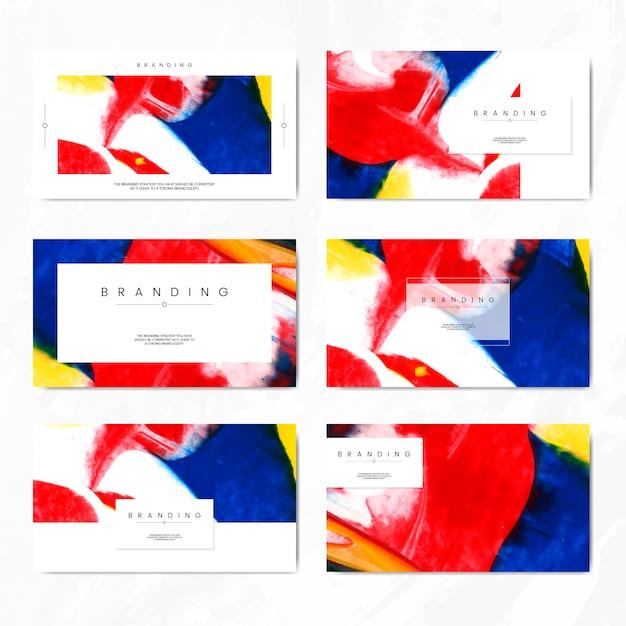 Cartão de marca artística Vetor grátis
