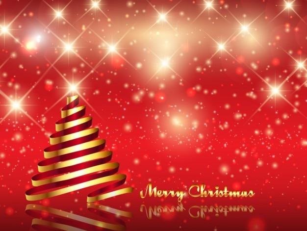 Cartão De Natal Brilhante Com árvore De Natal Baixar Vetores Grátis