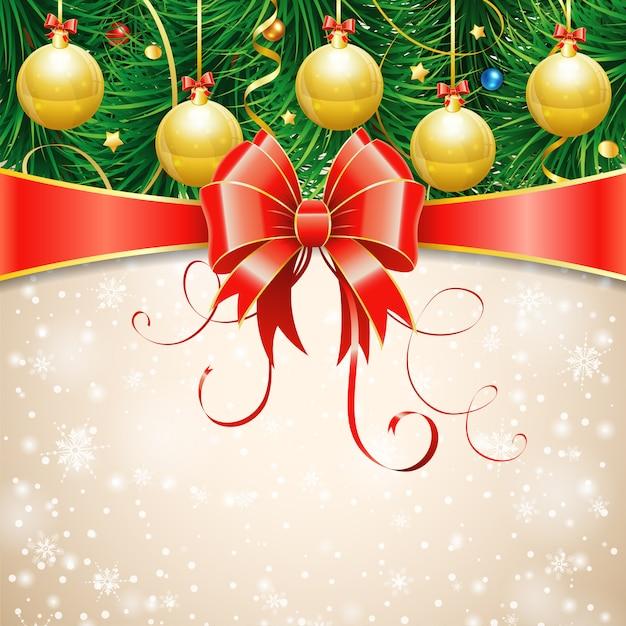 Cartão de natal Vetor Premium