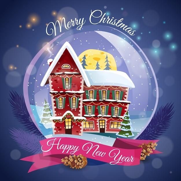 Cartão de natal Vetor grátis