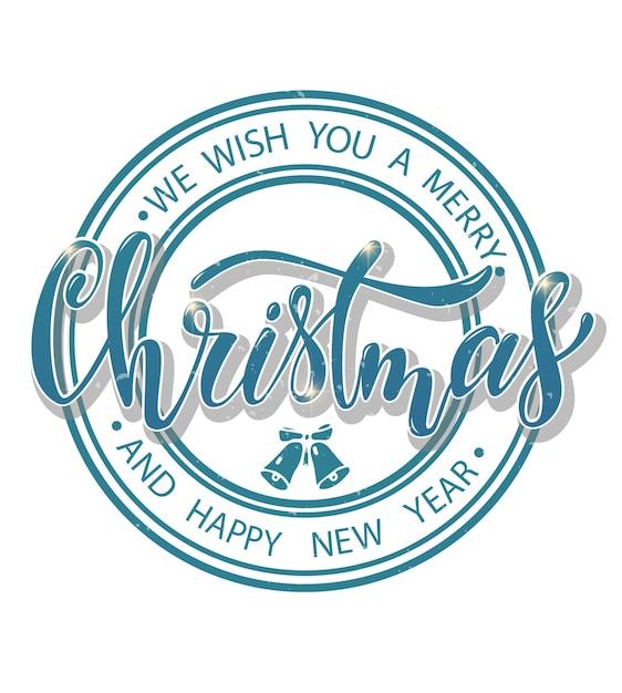 Cartão de natal. Vetor Premium