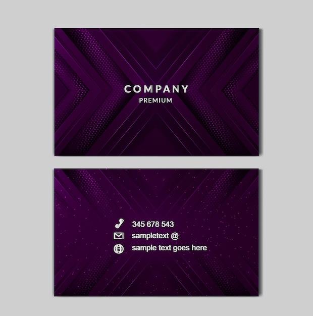 Cartão de negócios de luz de luxo Vetor Premium