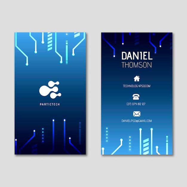 Cartão de negócios dupla-face de segurança cibernética v Vetor grátis