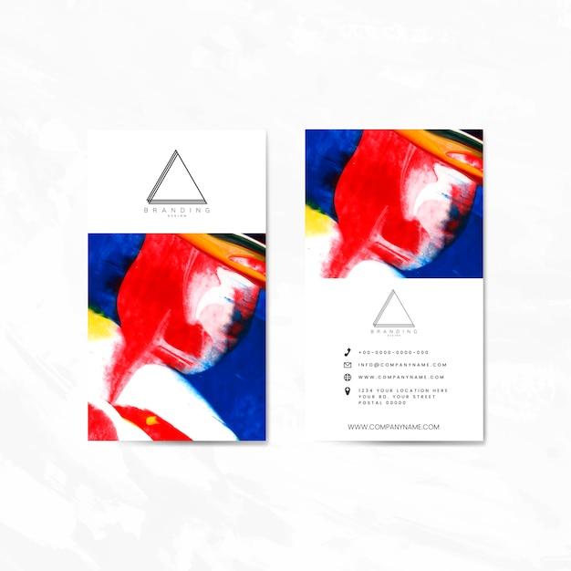 Cartão de nome definido para o conjunto de vetores de design empresa Vetor grátis