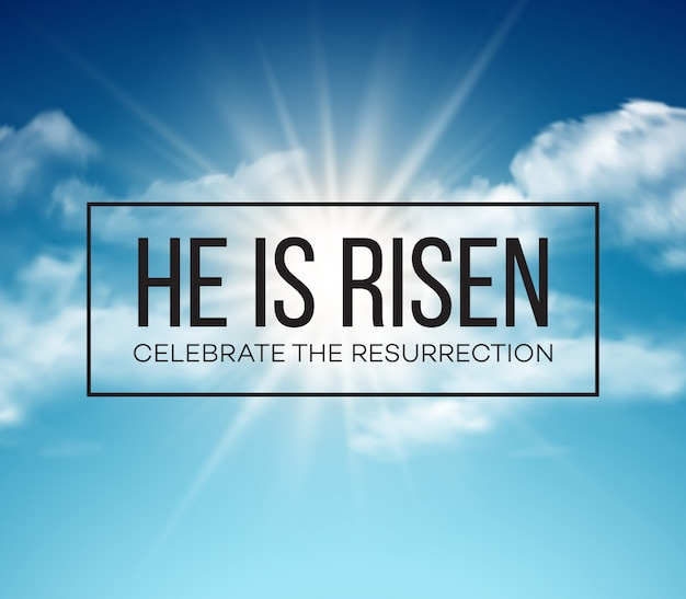 Cartão de ressurreição Vetor Premium