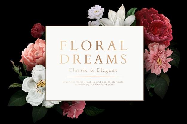 Cartão de sonhos florais Vetor grátis