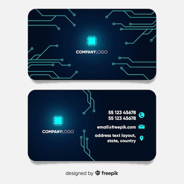 Cartão de tecnologia Vetor grátis