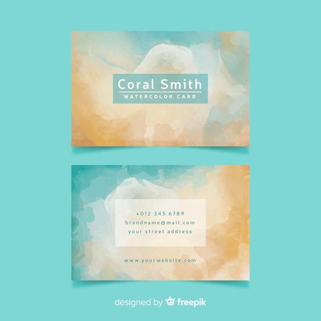 Cartão de visita abstrato colorido pálido Vetor grátis