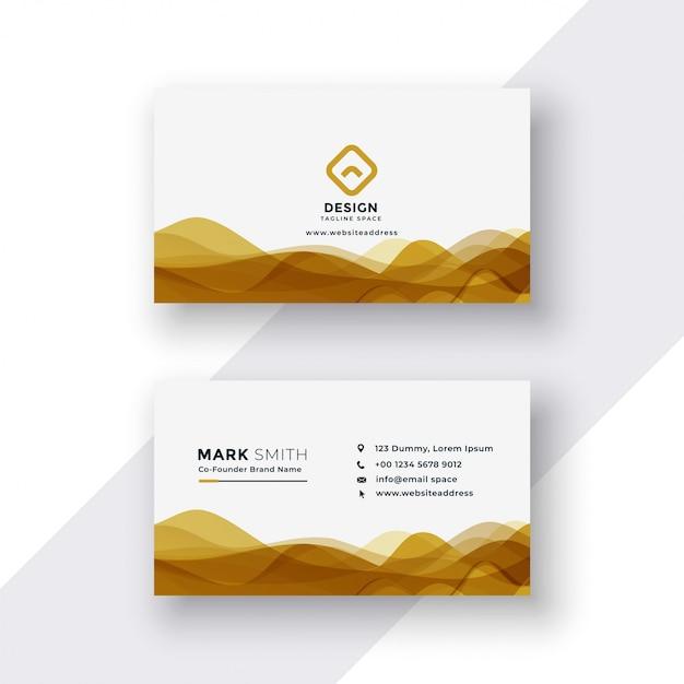 Cartão de visita branco e dourado Vetor grátis