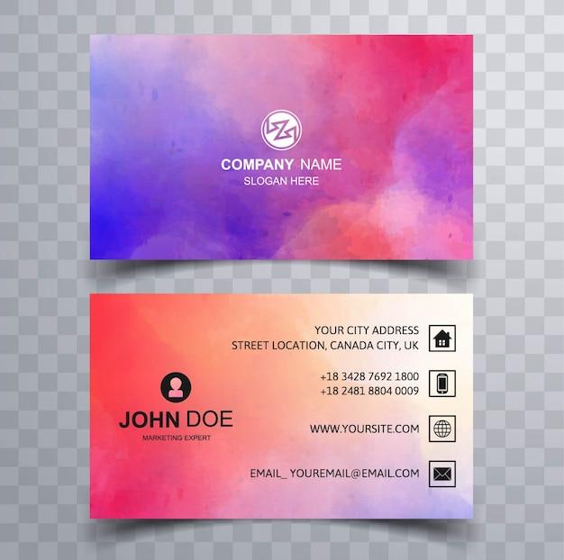 Cartão de visita colorido moderno Vetor Premium