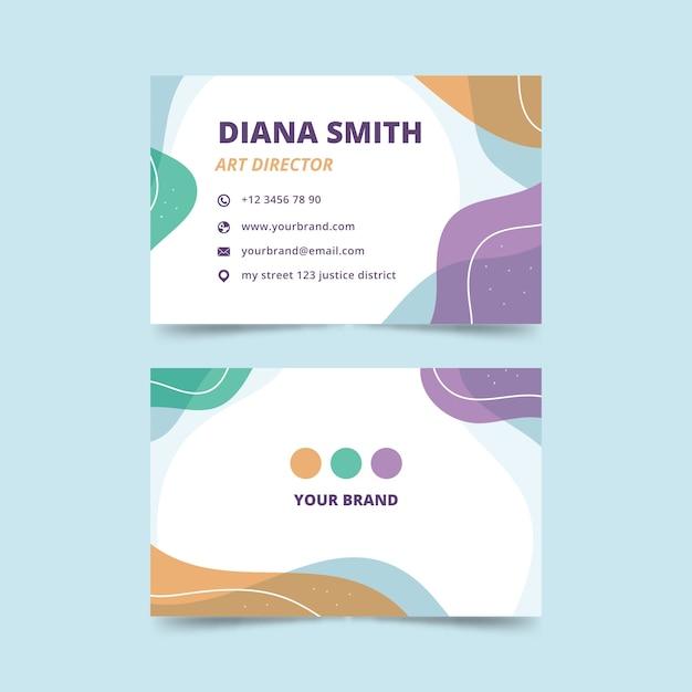 Cartão de visita com design abstrato para diretor de arte Vetor grátis