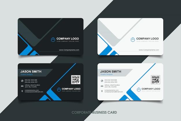 Cartão de visita com design moderno Vetor Premium