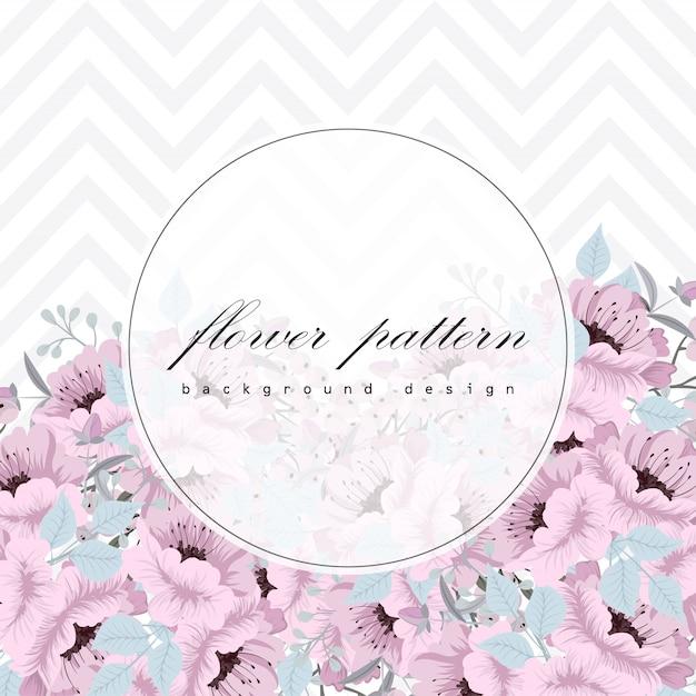 Cartão de visita com fundo de flores lindas Vetor grátis