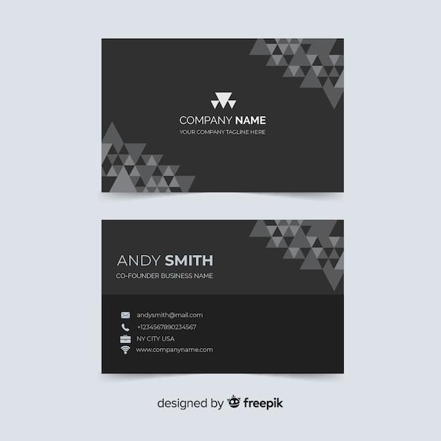 Cartão de visita com nome da empresa Vetor grátis