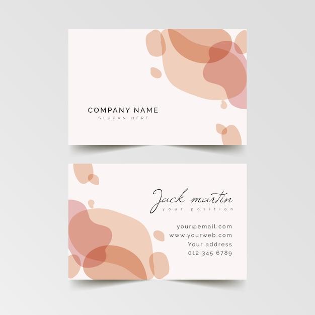 Cartão de visita cor de rosa pastel-manchado Vetor grátis
