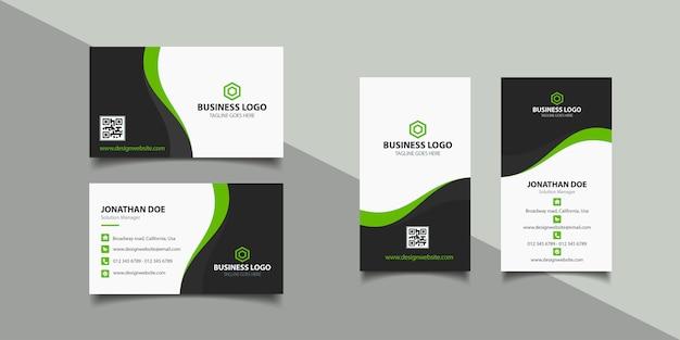 Cartão de visita corporativo Vetor Premium