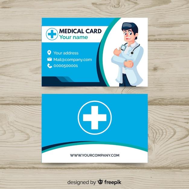 Cartão de visita criativo com conceito médico Vetor grátis