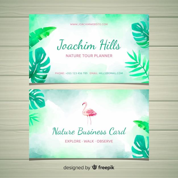 Cartão de visita criativo com o conceito de natureza Vetor grátis