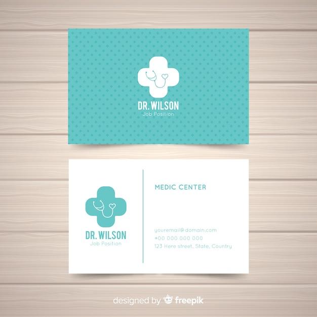 Cartão de visita criativo em estilo médico Vetor Premium