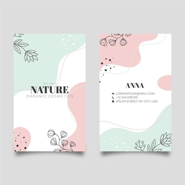 Cartão de visita da natureza Vetor Premium