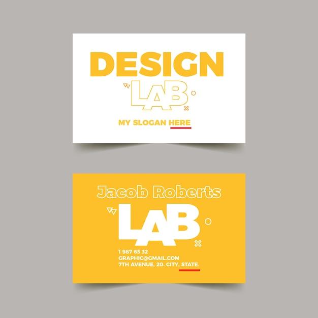 Cartão de visita de designer gráfico com modelo engraçado Vetor grátis