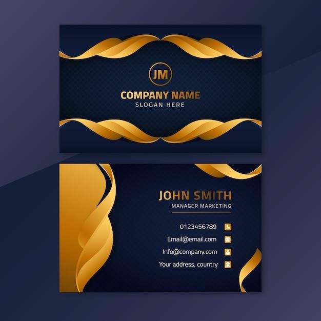 Cartão de visita de luxo elegante Vetor grátis