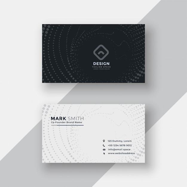 Cartão de visita de meio-tom preto e branco Vetor grátis