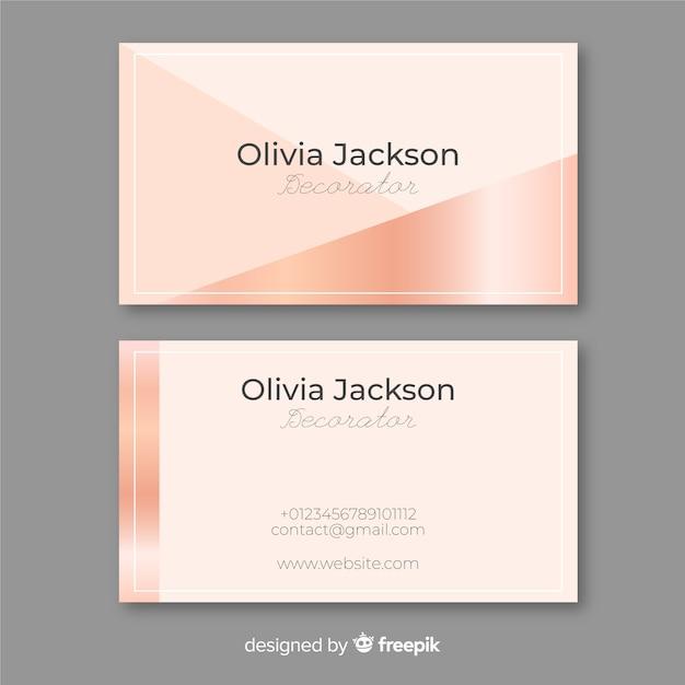 Cartão de visita de ouro rosa Vetor grátis