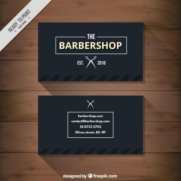 cart u00e3o de visita do barbeiro preto