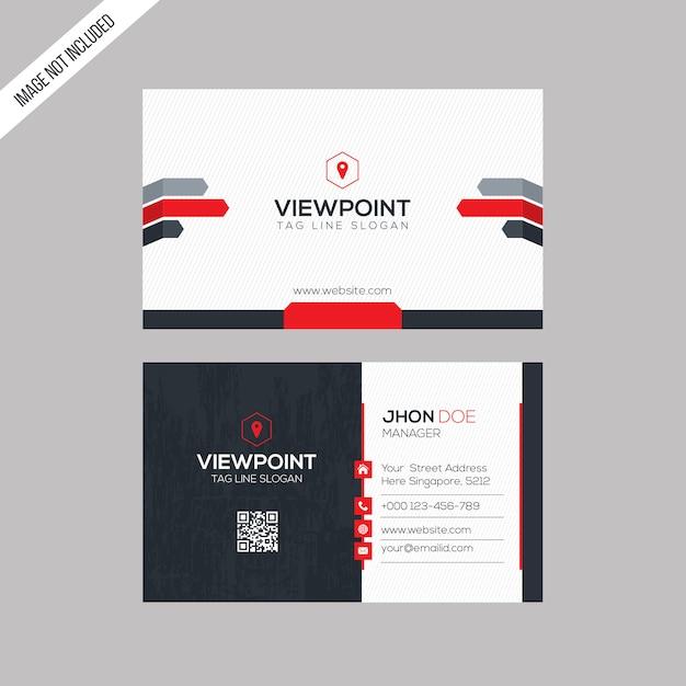 Cartão de visita do ponto de vista Vetor Premium