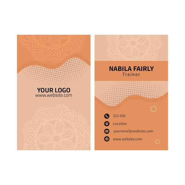 Cartão de visita dupla-face de psicologia Vetor Premium