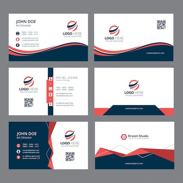 Cartão de visita e modelo de identidade de marca Vetor Premium