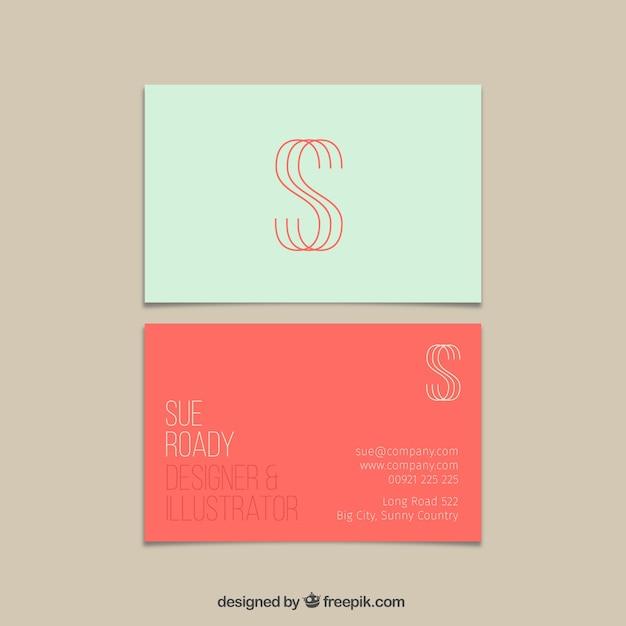 Cartão de visita em estilo moderno Vetor grátis