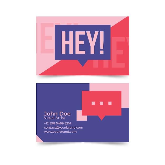 Cartão de visita engraçado do designer gráfico do modelo Vetor grátis