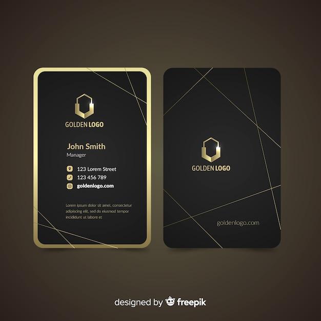Cartão de visita luxuoso Vetor grátis