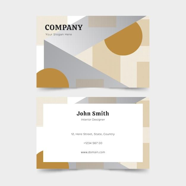 Cartão de visita minimalista com formas Vetor grátis