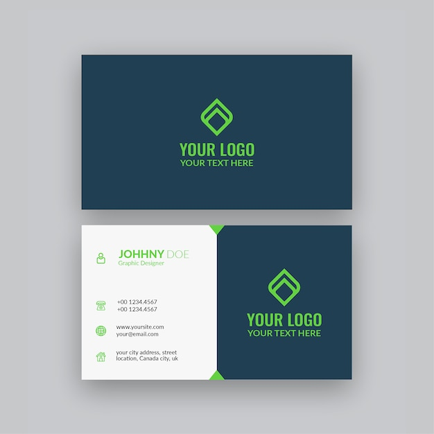 Cartão de visita minimalista elegante Vetor Premium