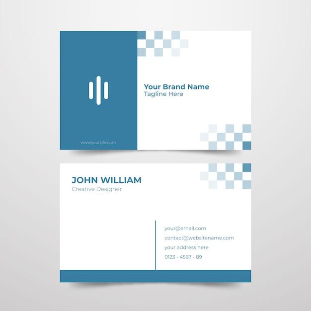 Cartão de visita mínimo para designer criativo Vetor grátis