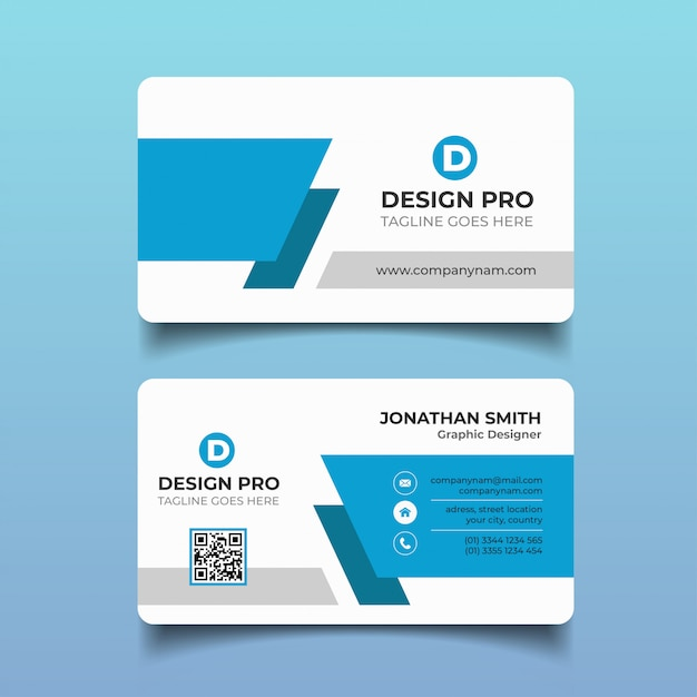 Cartão de visita moderno Vetor Premium
