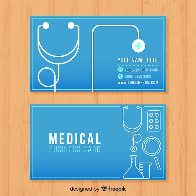Cartão de visita para o médico Vetor grátis