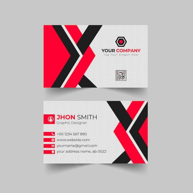 Cartão de visita profissional moderno Vetor Premium