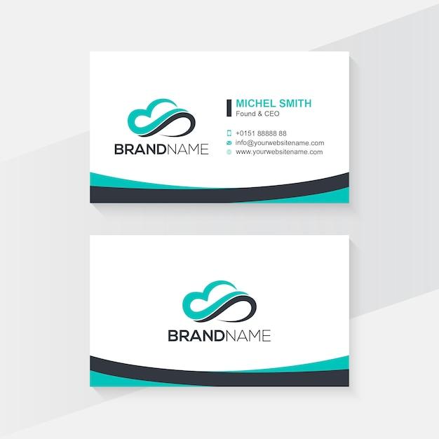 Cartão de visita profissional Vetor Premium