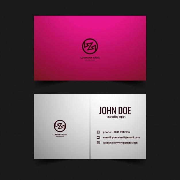 Cartão de visita rosa | Baixar vetores grátis