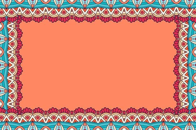 Cartão de visitas. elementos decorativos vintage. cartões florais ornamentais, padrão oriental, ilustração vetorial Vetor Premium